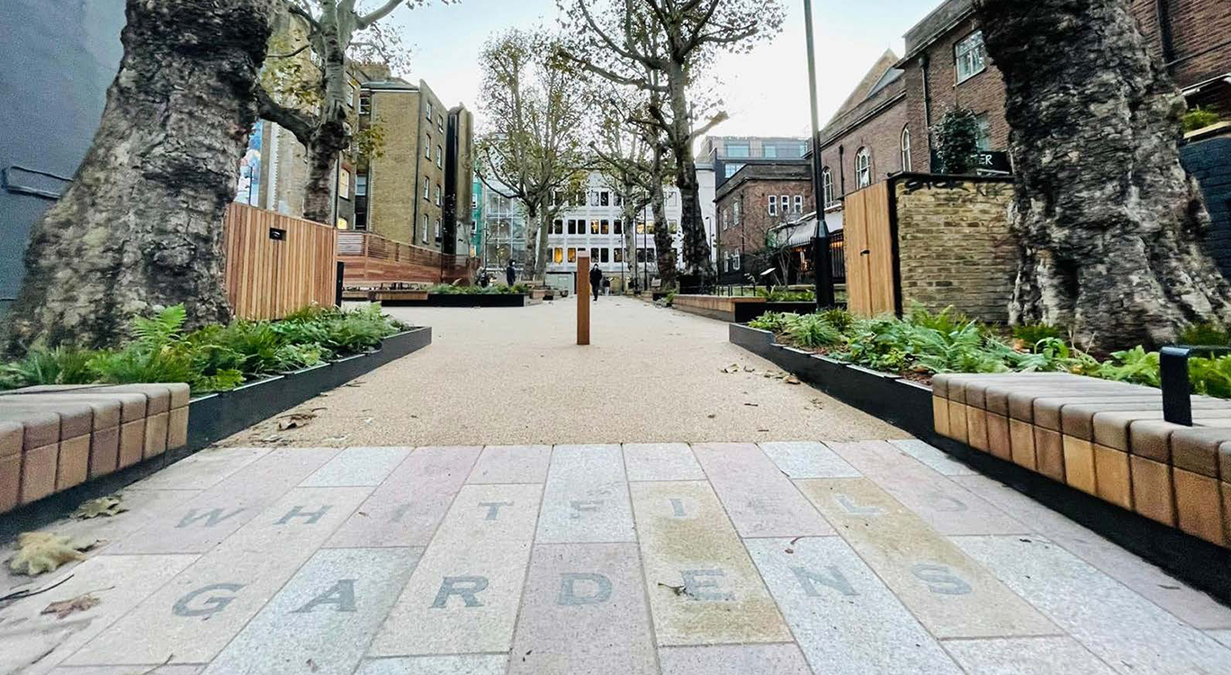 Open and safe - a new look for Whitfield Gardens