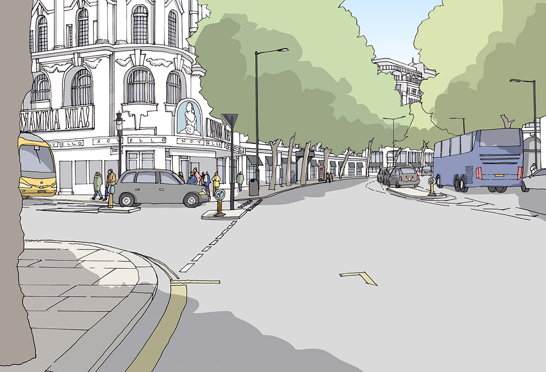 A view of Aldwych - before