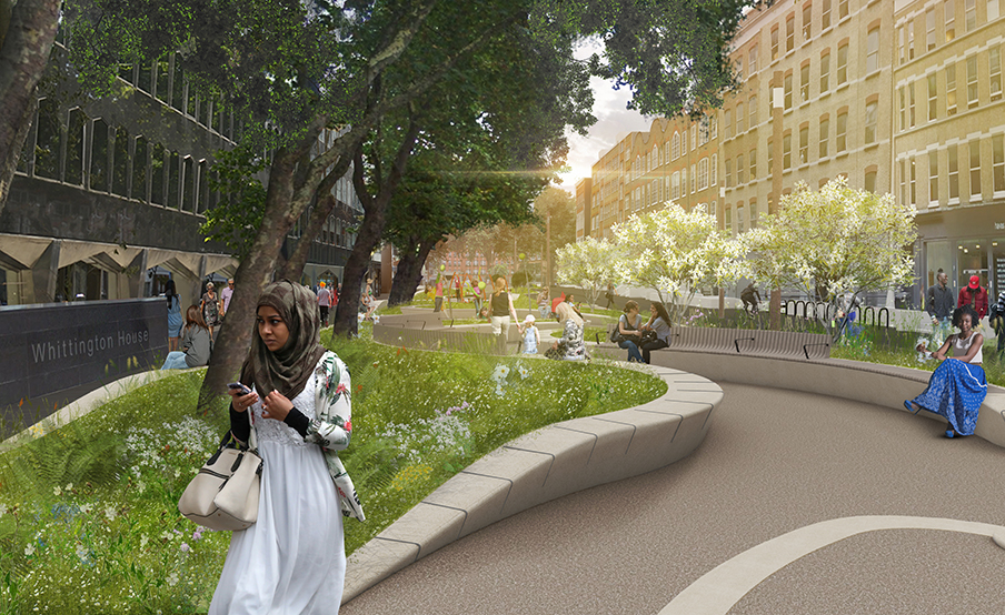 Alfred Place as an inviting new green space