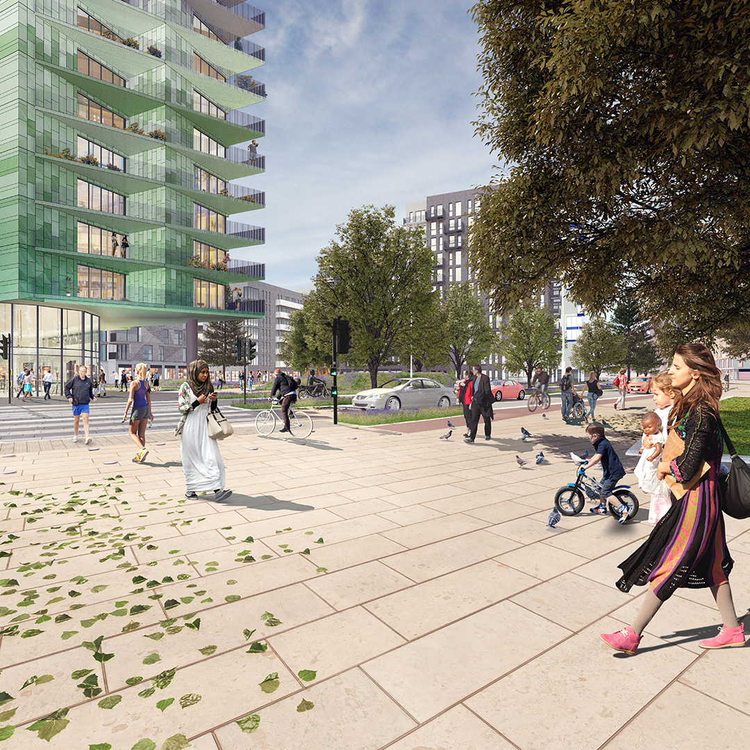 A new network of streets and spaces will make Queensway a lively place to be.