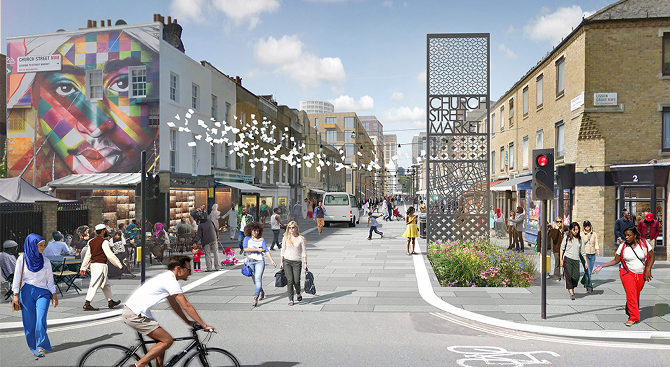 PBA/LDA Design's masterplan for Church Street in Westminster, London, gets the go ahead.