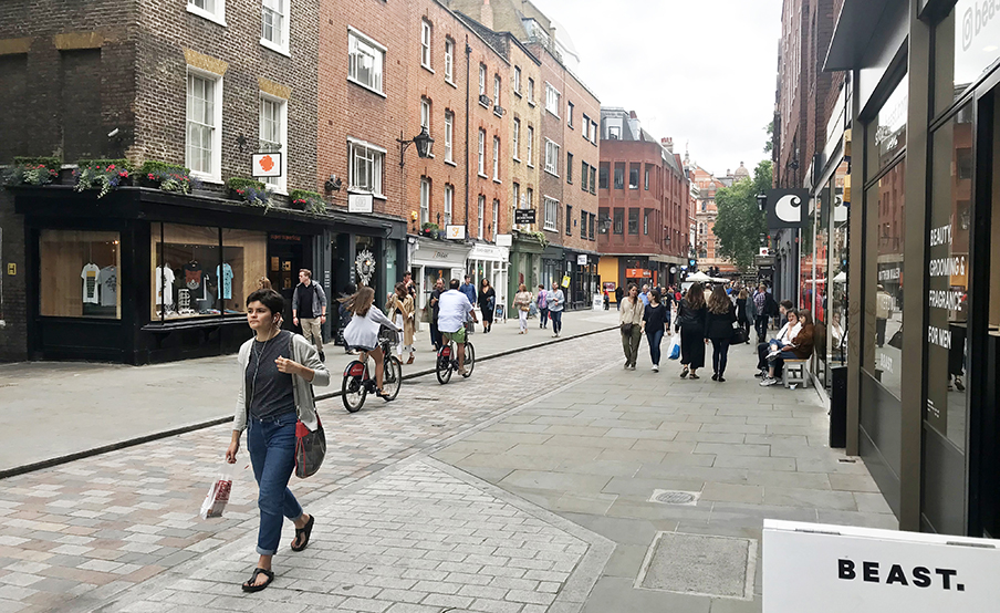 Earlham Street transformed as a people friendly place