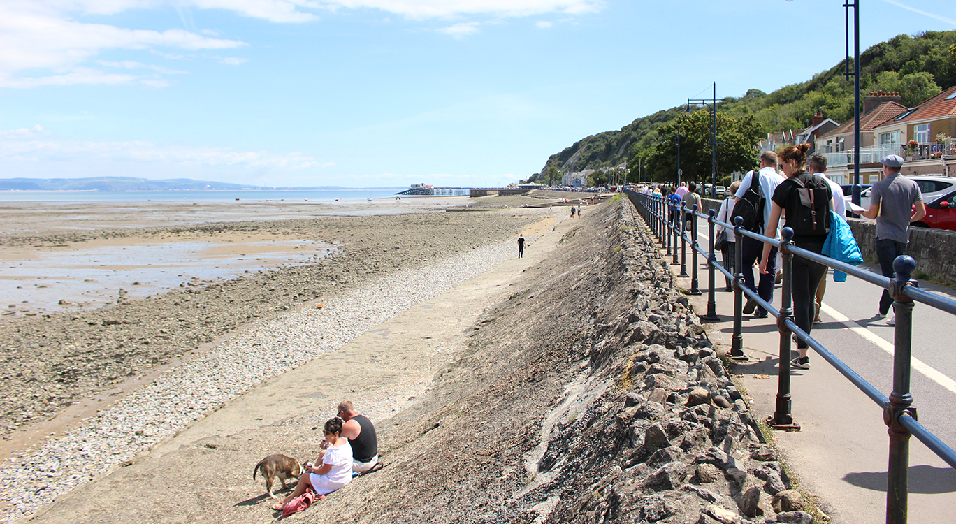 Flood defence in Mumbles, Wales, that will help to maximise social and economic opportunities